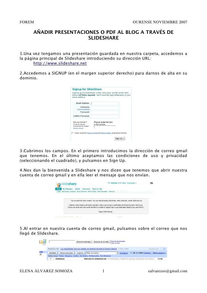 SUBIR PRESENTACIONES O PDF A SLIDESHARE