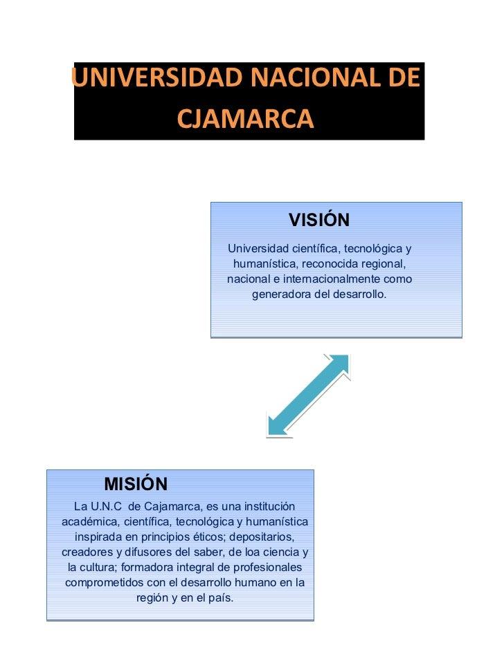 mision y vision de la UNC