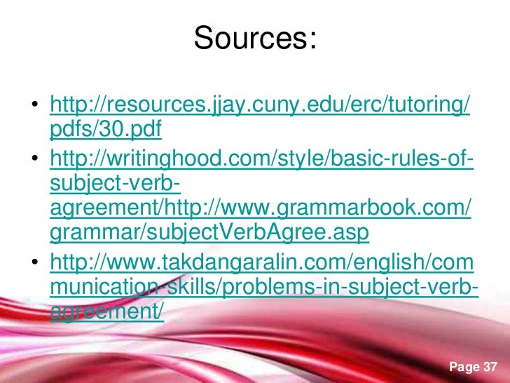30 Rules Of Subject Verb Agreement Homework Writing Service
