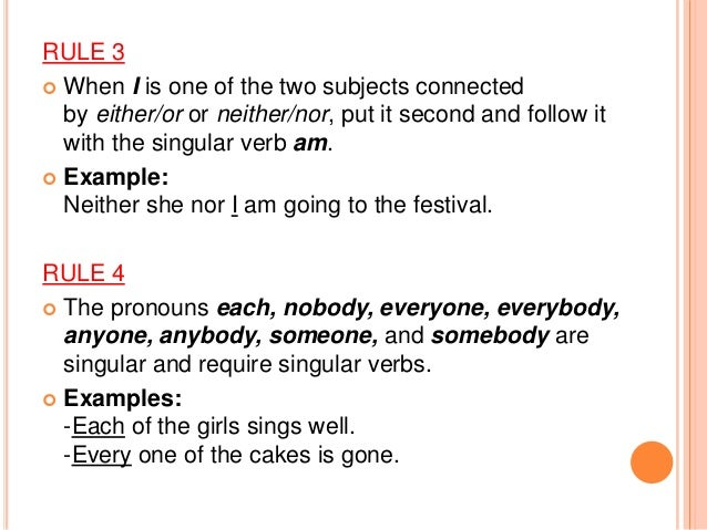 20 Rules Subject Verb Agreement Exercises The 20