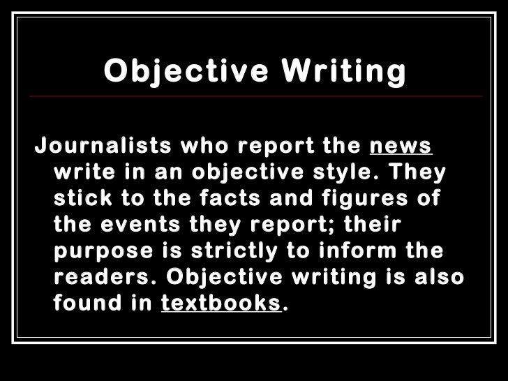 Write my essay objective