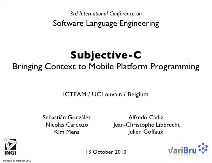 Subjective-C: Bringing Context to Mobile Platform Programming
