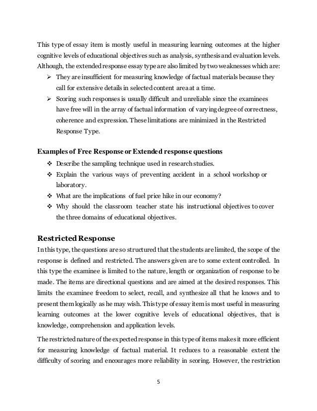 Extended Response Essay
