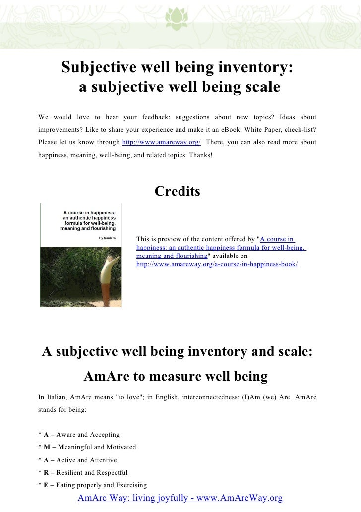 well being picture scale Read the well-being picture scale: a revision of the index of field energy, nursing science quarterly on deepdyve, the largest online rental service for scholarly.
