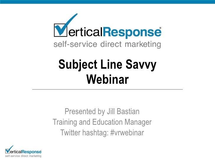 Subject Line Savvy