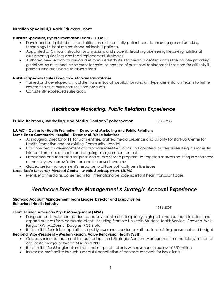 Nutrition Cover Letter  Registered Dietitian Resume