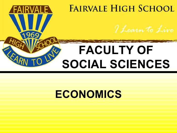 FACULTY OFSOCIAL SCIENCESECONOMICS