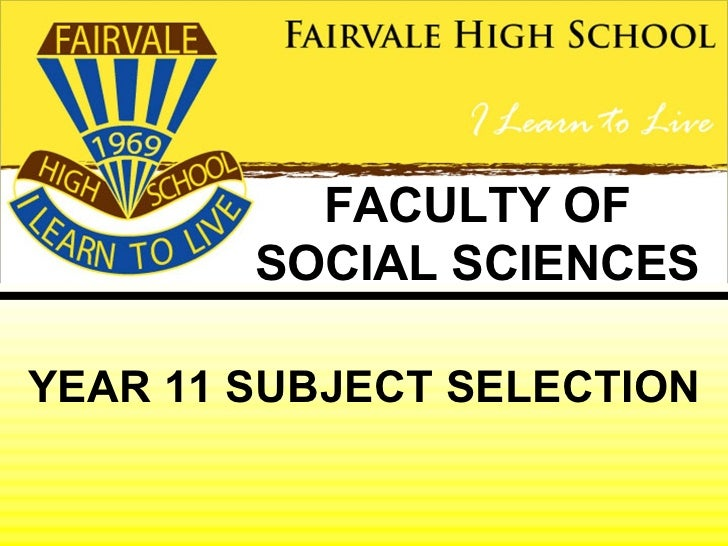 Subject selection - Social Science