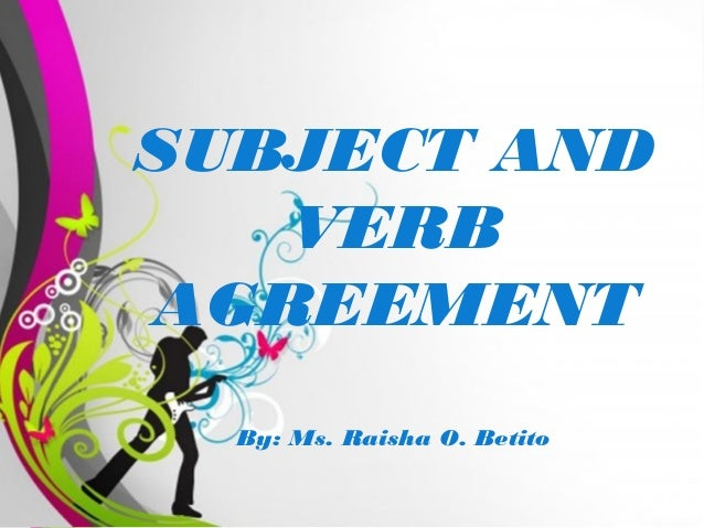 Free powerpoint presentation subject verb agreement