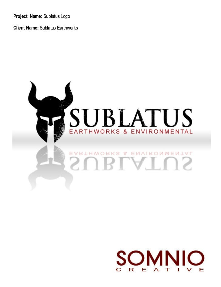 Project Name: Sublatus LogoClient Name: Sublatus Earthworks