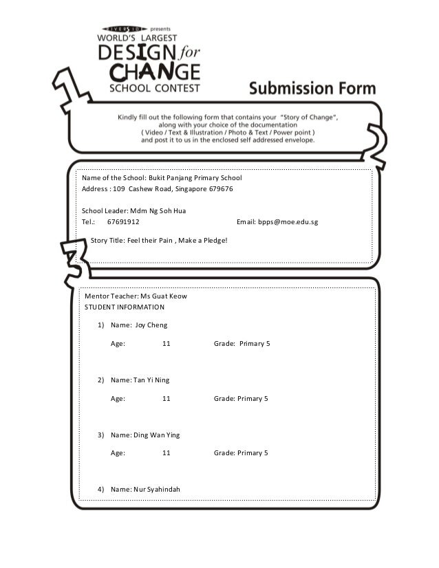 Submission form feel their pain,make a pledge