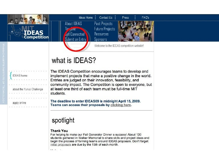 submit an ideas proposal