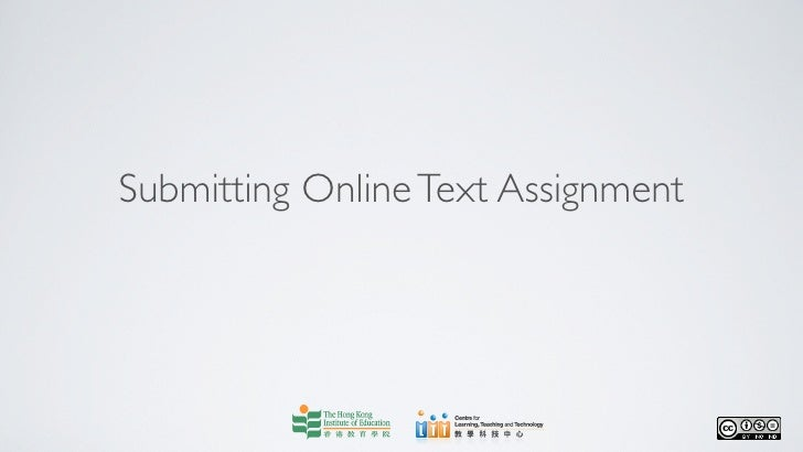 Submitting Online Text Assignment