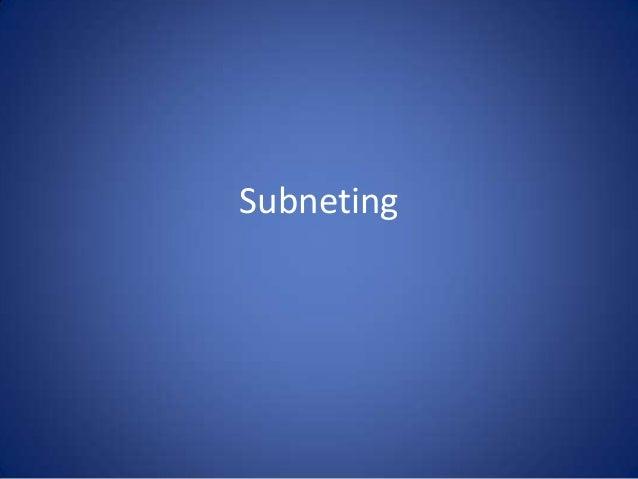 Subneting