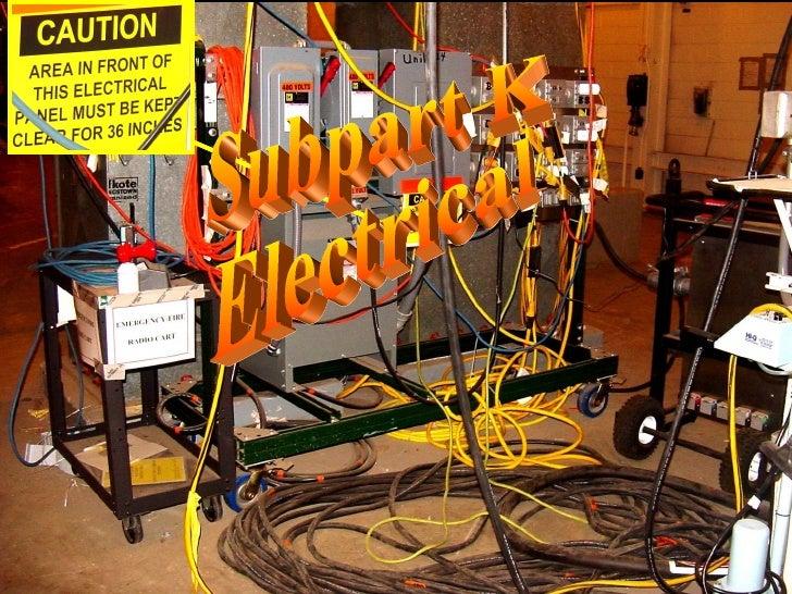 Subpart K - Electrical