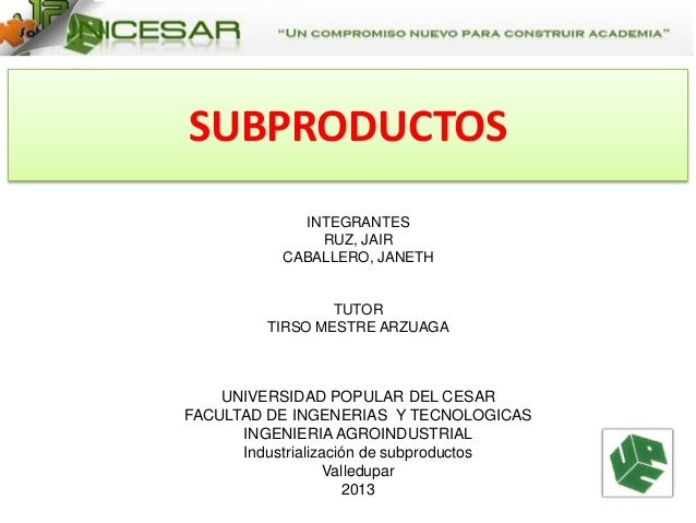 Subproductos electiva ii