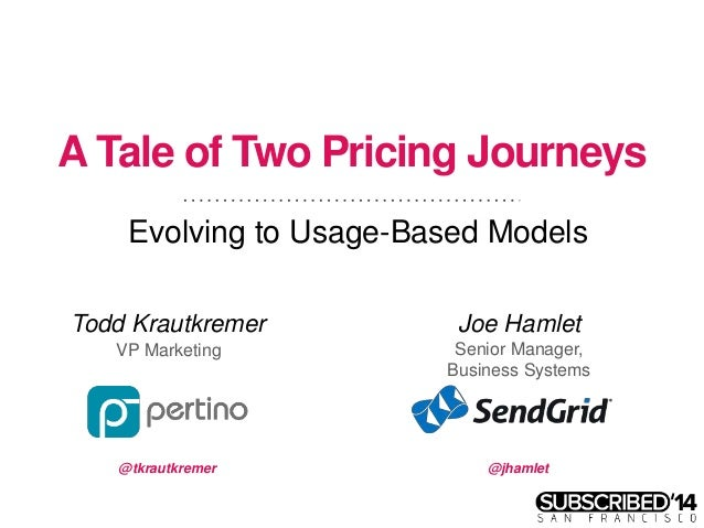 A Tale of Two Pricing Journeys: Evolving to Usage Models