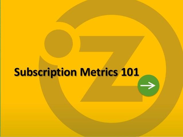 Subscription Metrics 101