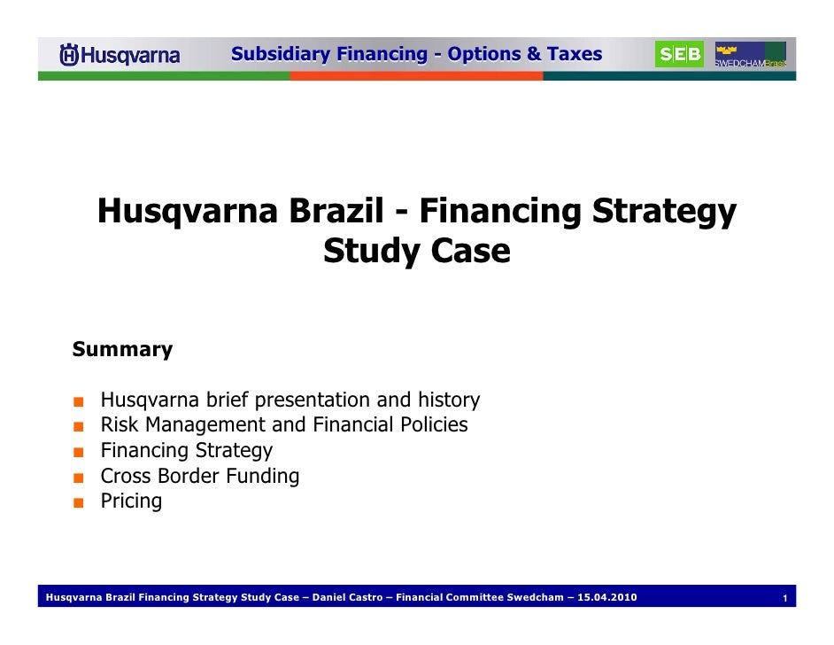 Subsidiary Financing Options Taxes Swedcham 15 04 2010