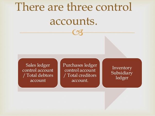 Sales Ledger Sales Ledger Control Account