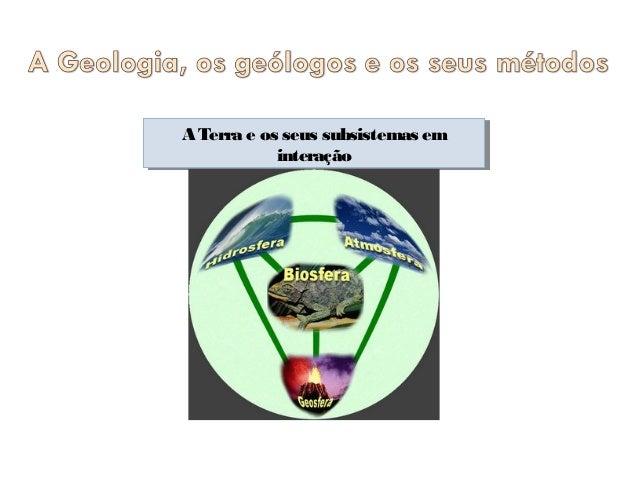 A Terra e os seus subsistemas em A Terra e os seus subsistemas em interação interação