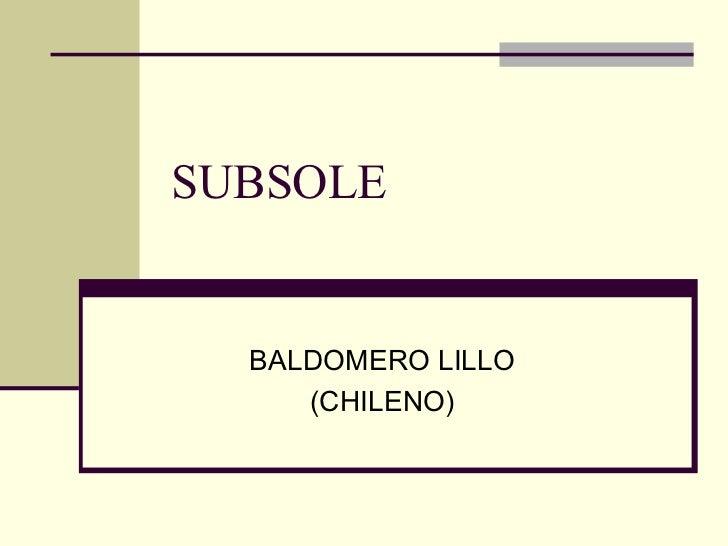 SUBSOLE BALDOMERO LILLO (CHILENO)