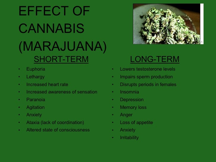 the short and long time effects of marijuana When you're high on marijuana, it can mess with your short-term memory, attention, and reaction time pot affect your brain if you use it for a long.