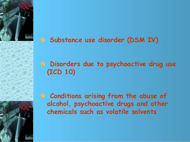 drug addiction icd 10