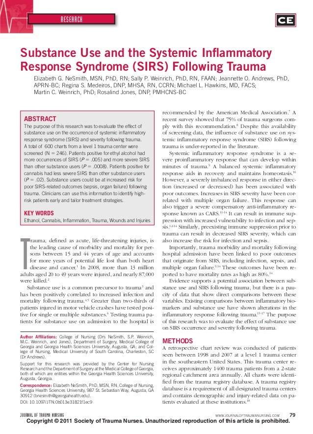 JOURNAL OF TRAUMA NURSING WWW.JOURNALOFTRAUMANURSING.COM 79RESEARCHCopyright © 2011 Society of Trauma Nurses. Unauthorized...