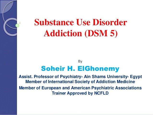 drug addiction dsm