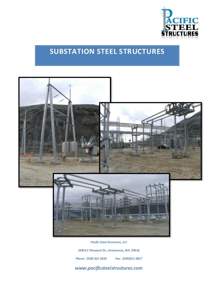 Substation structure catalog pdf for Electrical substation pdf
