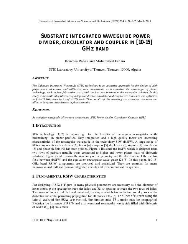 International Journal of Information Sciences and Techniques (IJIST) Vol.4, No.1/2, March 2014 DOI : 10.5121/ijist.2014.42...