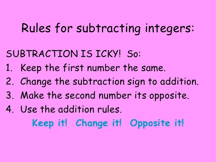 Related Keywords Amp Suggestions For Subtracting Integers