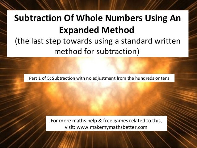 Subtraction Using An Expanded Method (part 1 of 5)