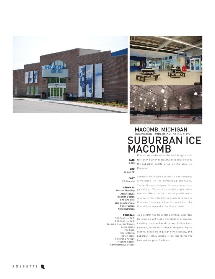 MACOMB, MICHIGAN                             INNOVATION . EXPANSION . ORIGINALITY .                    SUBURBAN ICE       ...
