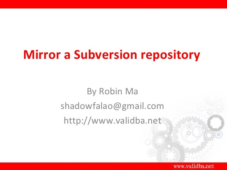 Subversion备份服务器的创建