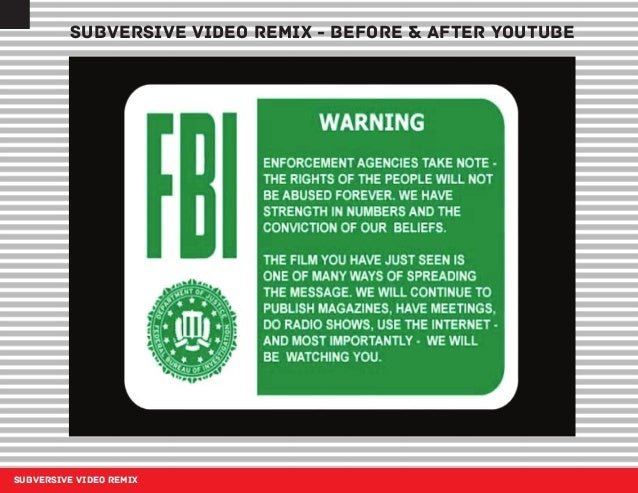 SUBVERSIVE VIDEO REMIX SUBVERSIVE VIDEO REMIX - BEFORE & AFTER YOUTUBE