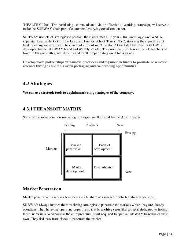 fast food marketing plan pdf