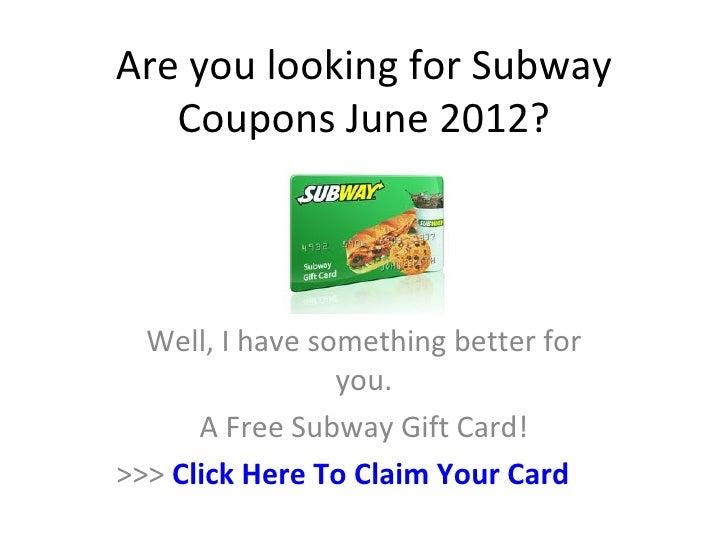 Subway coupons june 2019