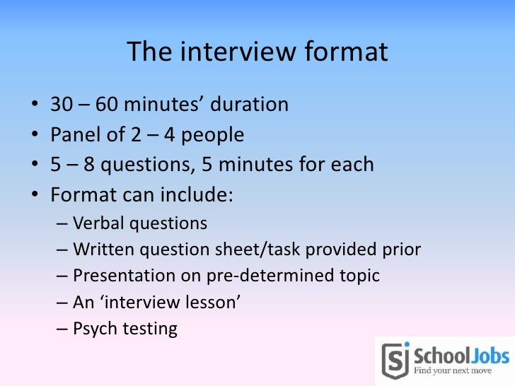 interview format