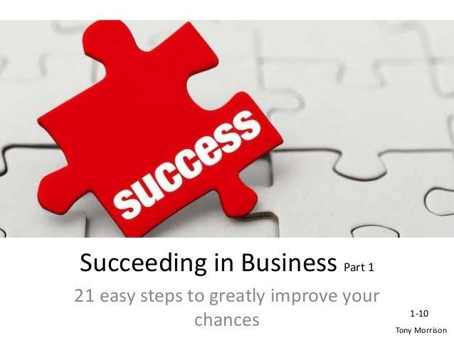 Succeeding in business pt 1
