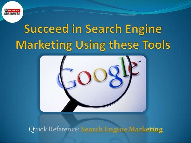 Succeed in search engine marketing using these tools