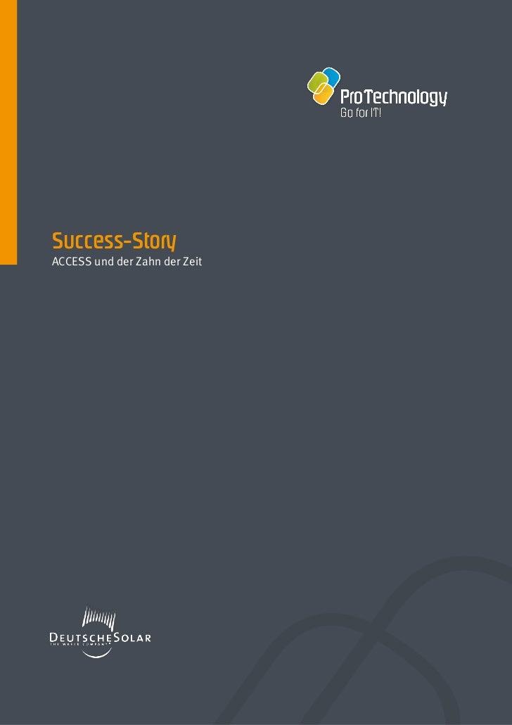 Success-StoryACCESS und der Zahn der Zeit