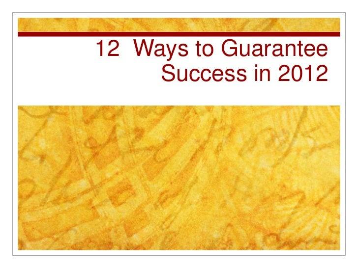 Success2012