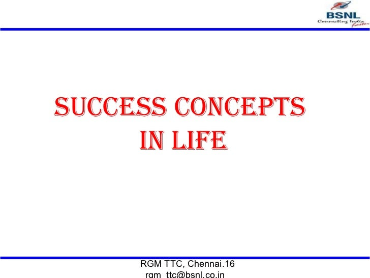 Success concepts in life