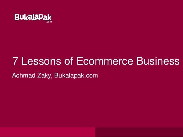Cara membuat toko online : Success ecommerce by achmad zaky bukalapak