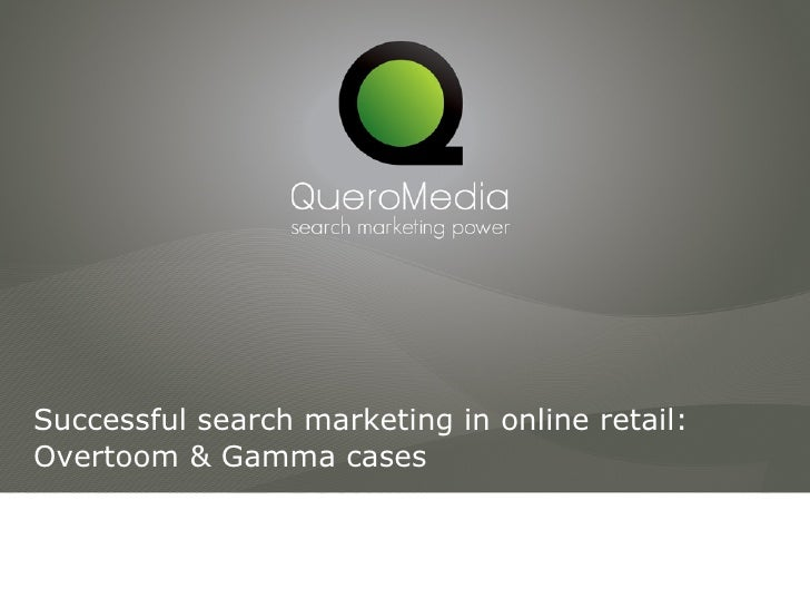 Successful Search Marketing In Online Retail