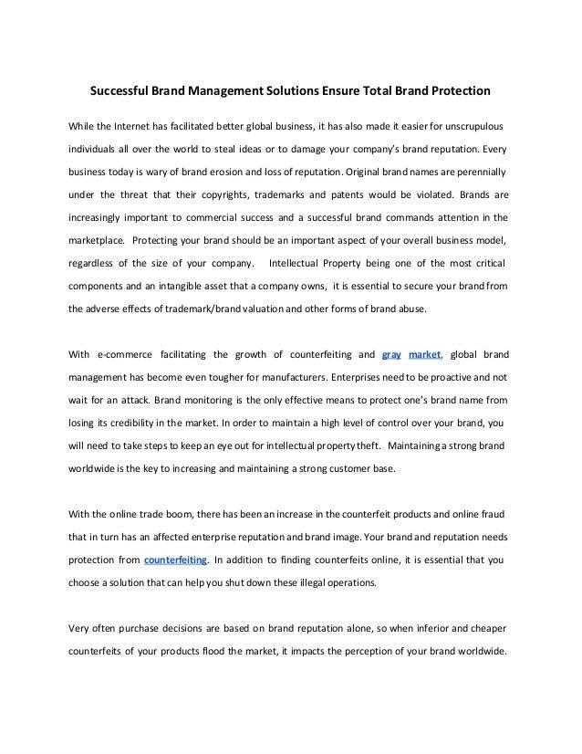 Successful Brand Management Solutions En