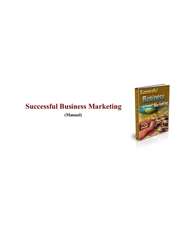 Successful business marketing