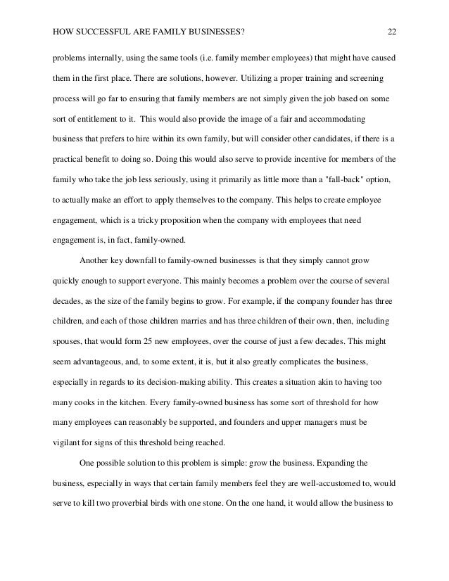 ... Essay drugerreport web Governance issues in a family business Essay